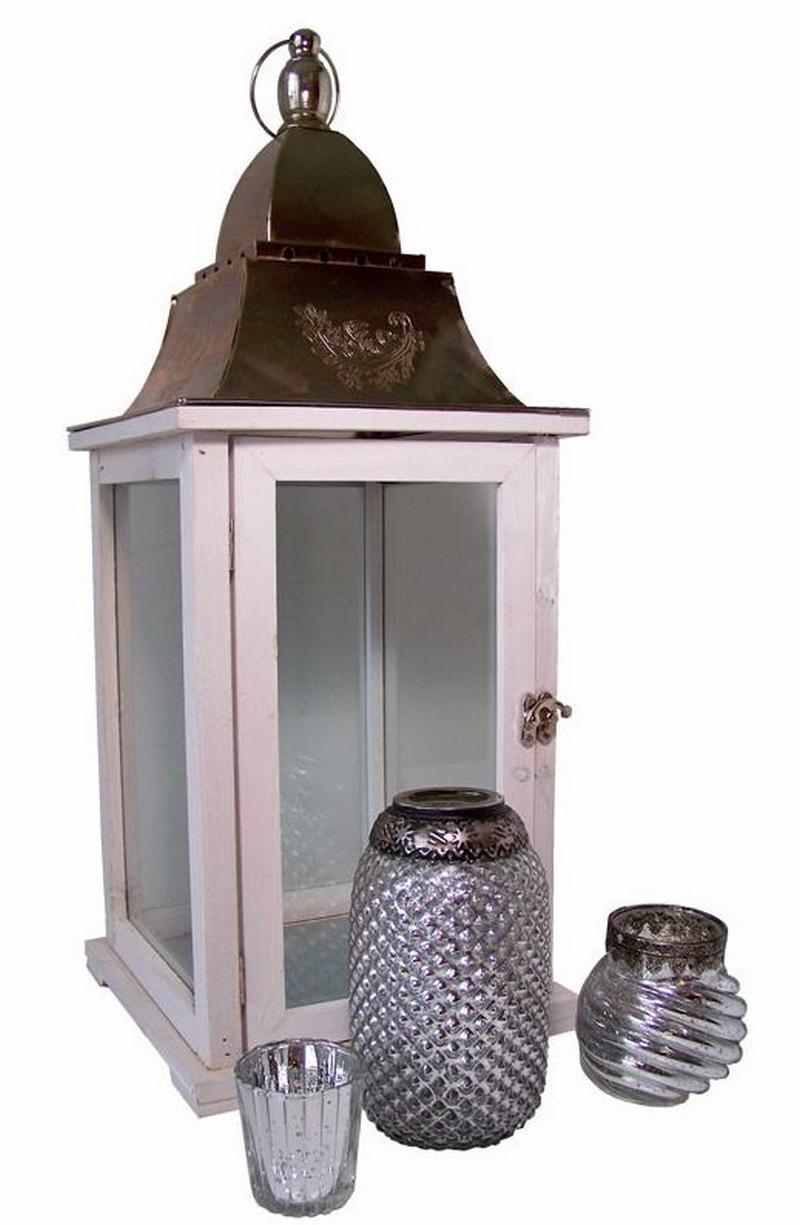 Lantaarn 58cm (met 3 sfeerlichten) - Decoratie, woonaccessoires ...