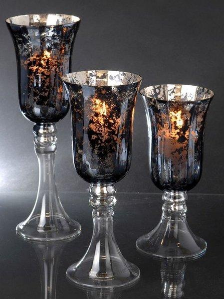 Kandelaars glas (set van 3) - Decoratie, woonaccessoires, cadeaus en ...