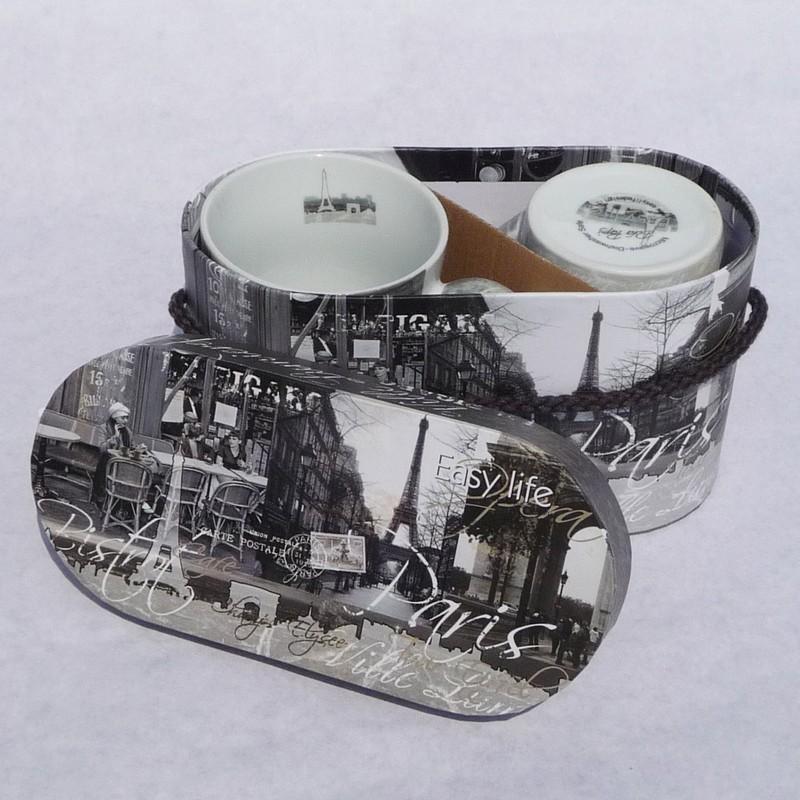 Bekerset parijs woonaccessoires decoratie cadeau 39 s en handgemaakte producten - Decoratie themakamer paris ...