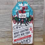 Kerst bord Merry Christmas 60 cm